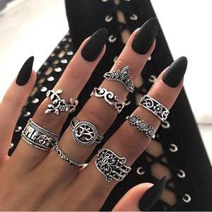 8 pc Boha set of Rings